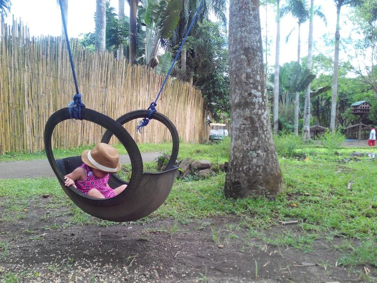 Tire SWING! i LOVE this! use an old truck tire or something from one of the trucks at the farm. doubles as a baby hammock :D