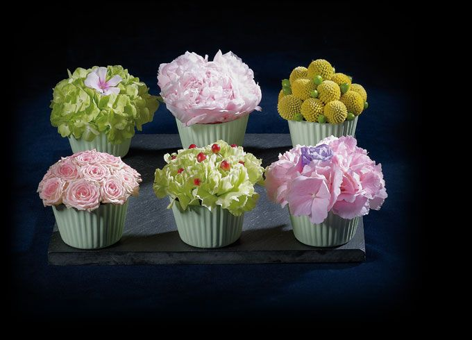 cupcakes fleurs centre de table
