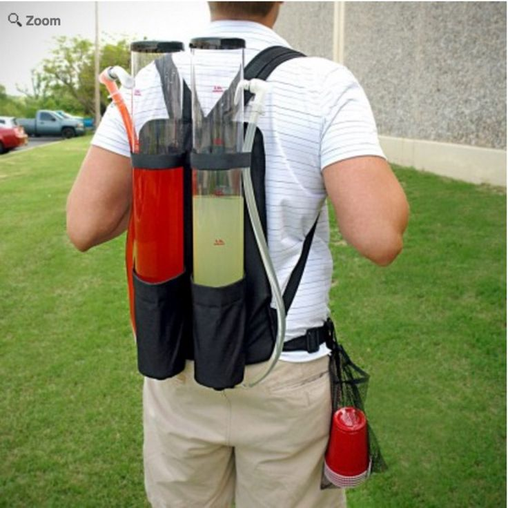 The secret to being the most popular person at the college football tailgate? Being the person who supplies the best drinks! You'll be a contender with this Tailgater Dual Tank Backpack Drink Dispenser! Mix up your drinks ahead of time and share them with your favorite tailgating buddies.