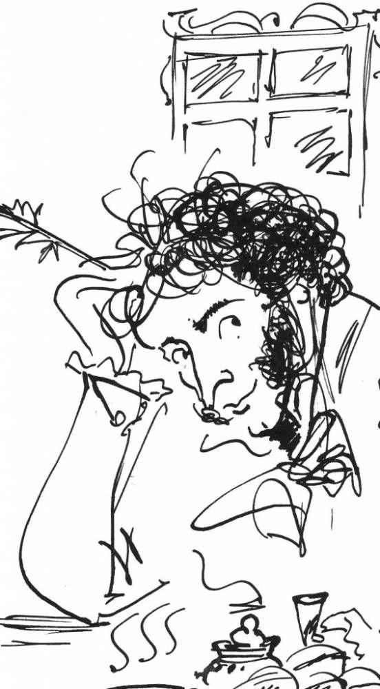 рисунки которые написал пушкин первым