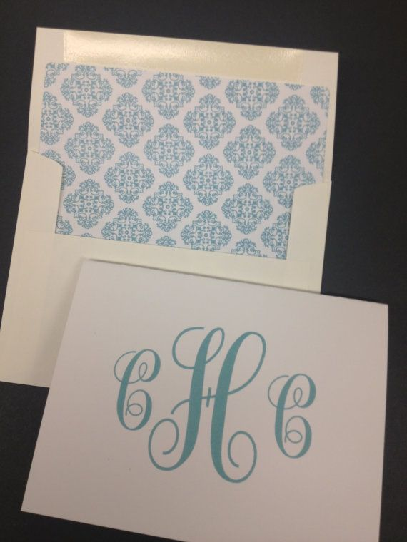 11 best images about monogram thank you notecards on pinterest