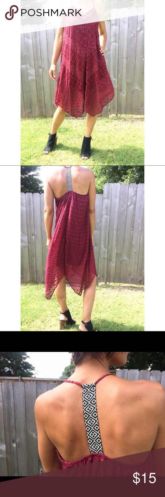 Red Xhilaration racerback maxi dress Medium Red Xhilaration racerback maxi dress Medium, perfect for summer and very comfortable. Xhilaration Dresses Maxi