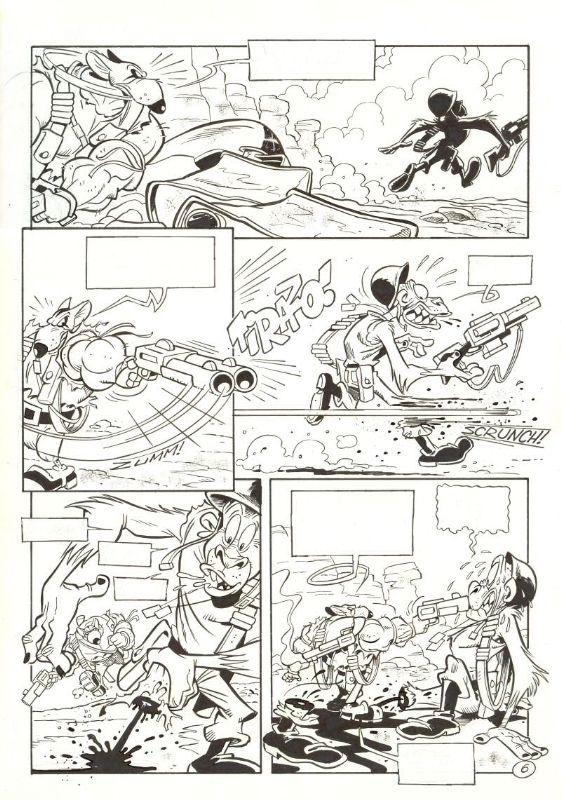 """Solo. Mundo canibal p06 Comic Art Página 6 de """"Solo. Mundo caníbal"""" (1999) por Óscar Martín entintado por Tony Fernández. En realidad es la nº16 si tenemos en cuenta las 10 páginas de prólogo cuenta atrás añadidas en la recopilación. A3 (42x29,7cm)"""
