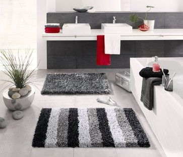 Best Bathroom Decor Ideas Images On Pinterest Bathroom Ideas - Black cotton bath mat for bathroom decorating ideas