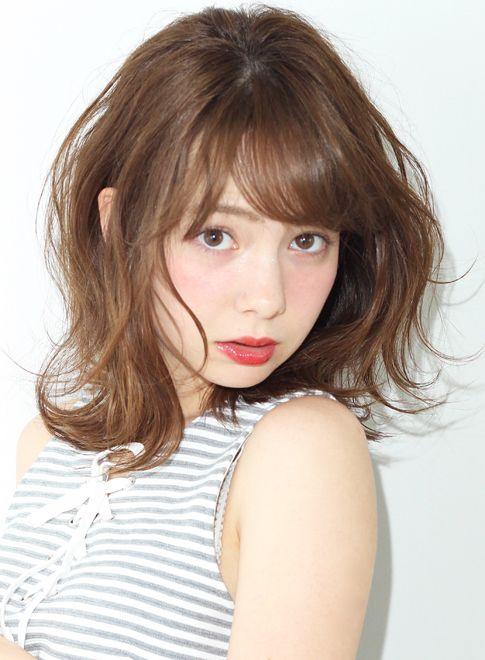 ラフで甘いキュートミディ 【Of HAIR 表参道店】 http://beautynavi.woman.excite.co.jp/salon/19794?pint ≪ #mediumhair #mediumstyle #mediumhairstyle #hairstyle・ミディアム・ヘアスタイル・髪形・髪型≫