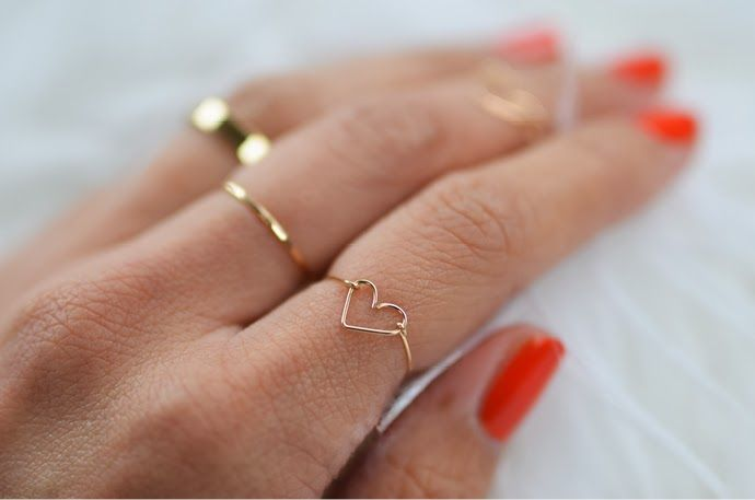 DIY: wire heart ring