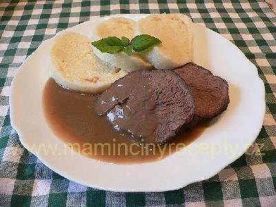 Hovězí maso vařené v troubě