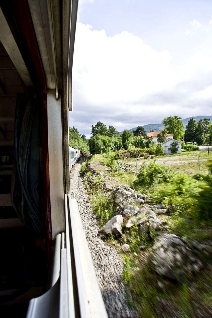 Amazing view, shot from the train from Ljubljana, Slovenia to Ičići, Croatia