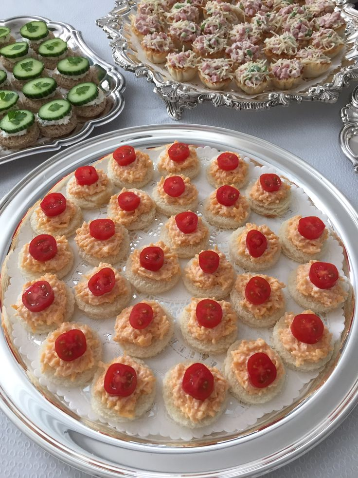 Cheddar and Tomato Tea Sandwiches! Catering by Debbi Covington - Beaufort, SC