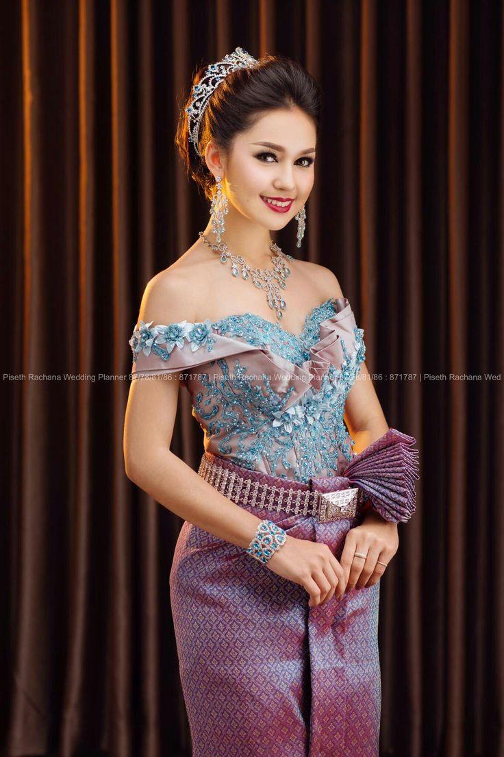 51 best thai girls images on pinterest khmer wedding for Thai style wedding dress