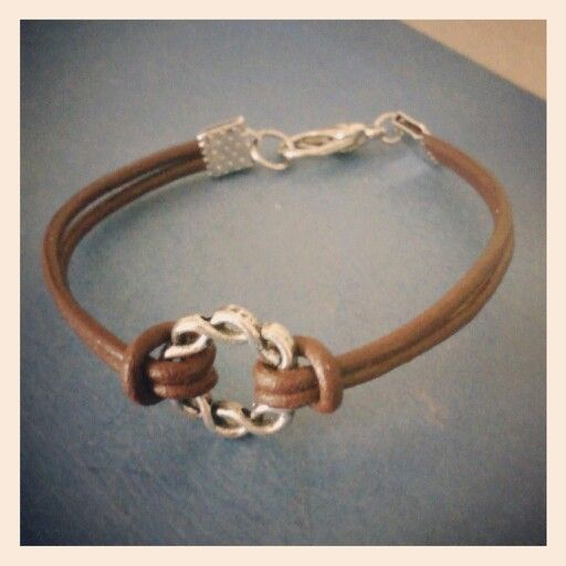 Celtic circle, real leather bracelet. Follow me on Instagram for updates on upcoming and new jewelery to my Etsy shop: alanak_crafts
