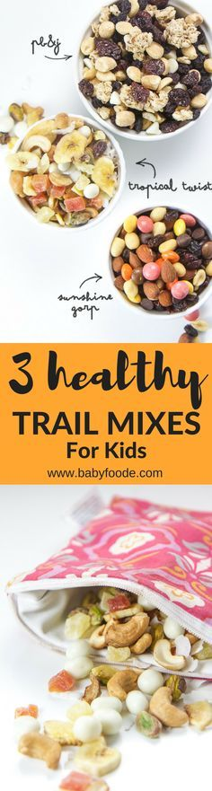 Here are 3 of our favorite go-to trail mix recipes that are filled with nuts, dried fruit and a little something sweet! Each recipe is easy to make and can be customized to your personal preferences.