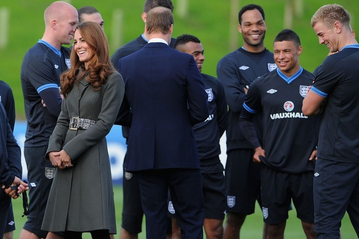Duchess of Cambridge on  a visit St. George's Park, Burton-Upon-Trent. October 9th 2012.