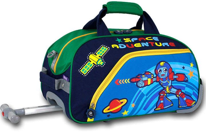 What little boy wouldn't want this?!  World Robot Wheeled Duffel #ad