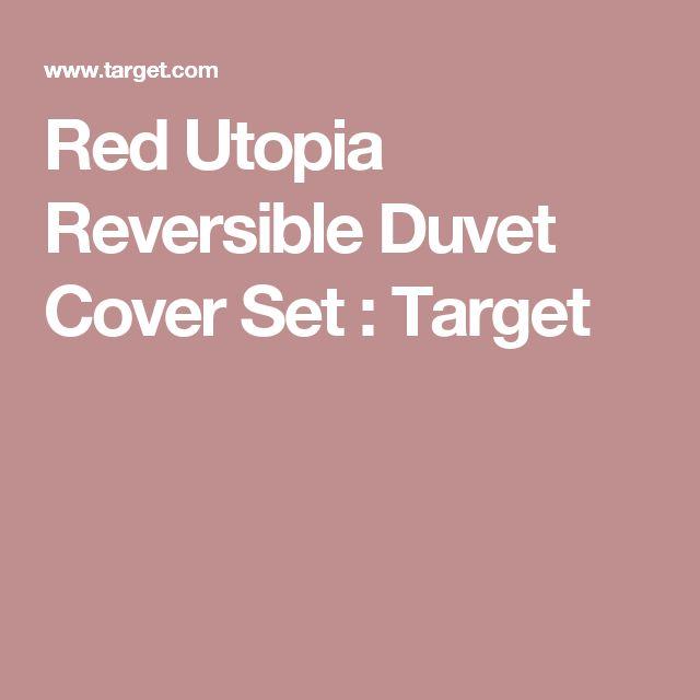 Red Utopia Reversible Duvet Cover Set : Target