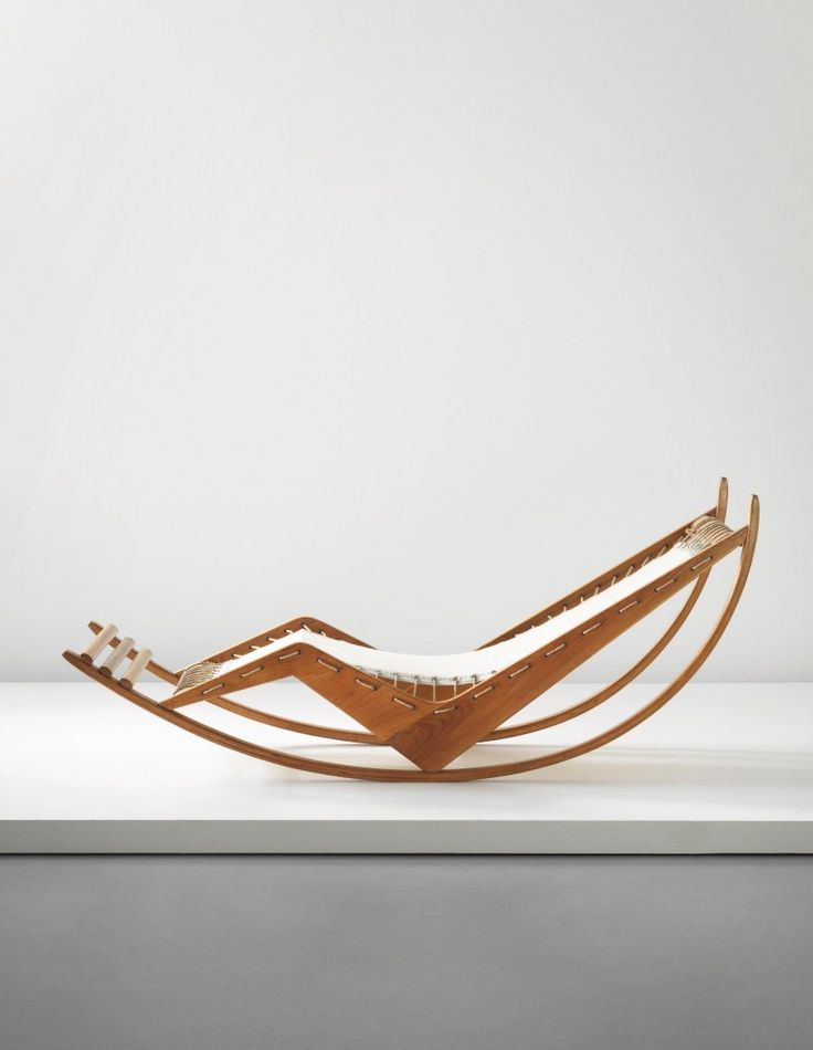 Franco Albini: Early and rare rocking chaise longue,circa 1940. Image Courtesy of Phillips