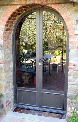 portoni in vetro con inferriata | Cancelli, recinzioni, inferriate fisse o apribili in ferro battuto ...
