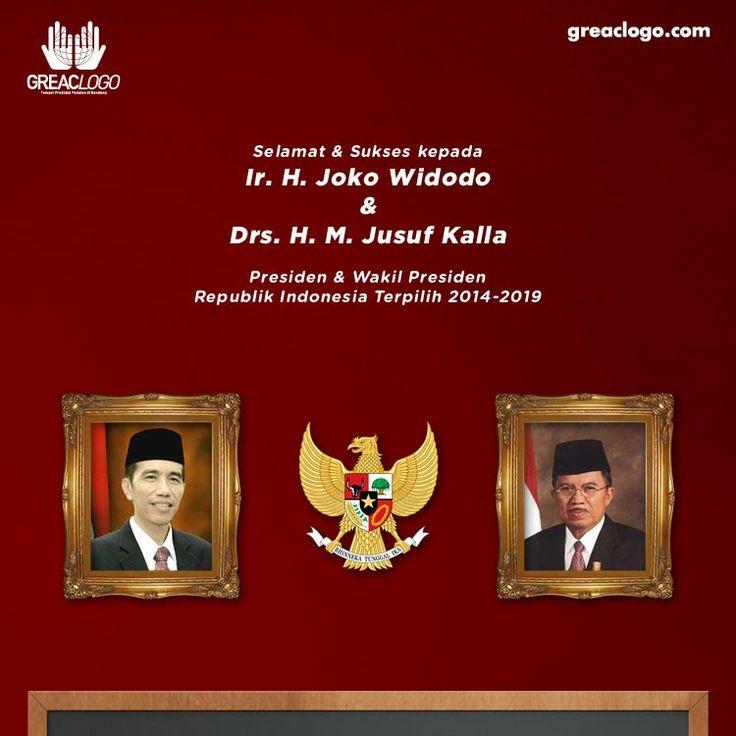 Selamat & Sukses kepada Ir. H. Joko Widodo & Drs. H. M. Jusuf Kalla  Presiden & Wakil Presiden Republik Indonesia Terpilih 2014-2019.  Semoga Indonesia menjadi lebih baik.