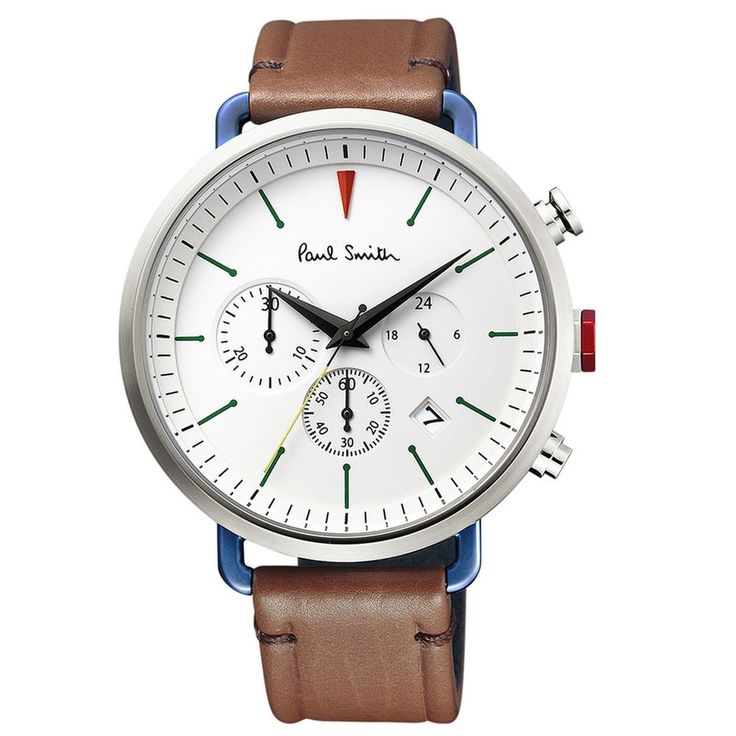 Paul Smith Watch Simple WHITE CYCLE EYES CHRONOGRAPH Mens  #Paulsmith #ContemporaryDesign
