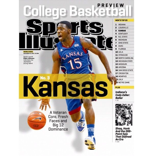 Rock Chalk, #Jayhawk. #Kansas PG Elijah Johnson is featured on your 4th and final #sportsillustrated regional cover this week. (Photo by David E. Klutho/SI) #collegebasketball