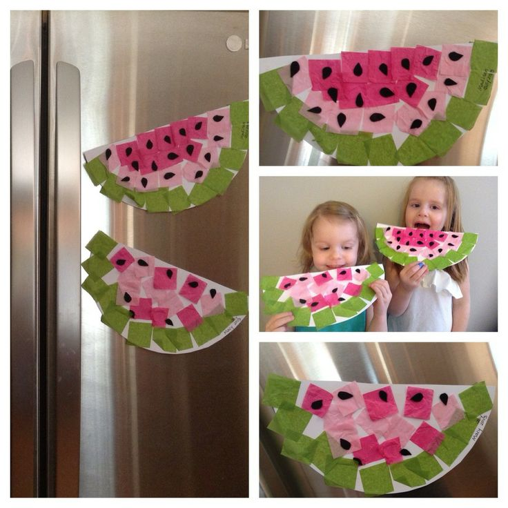 Simple Watermelon Craft // A Pinterest Idea For Your Kids