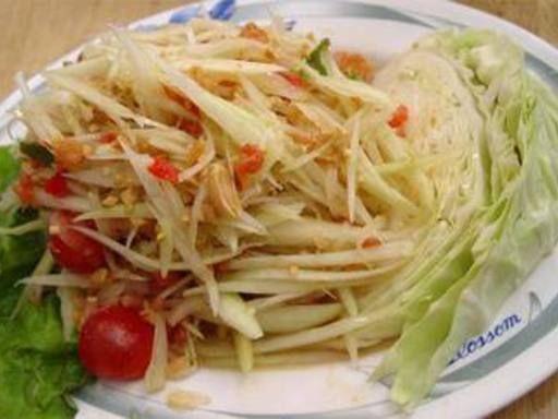 Salade de papaye verte traditionnelle thailandaise - Recette de cuisine Marmiton : une recette