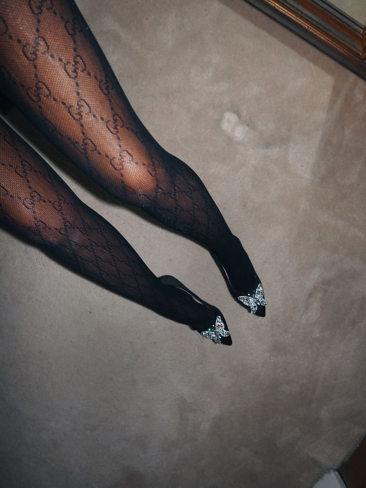 ce10a409ecc2a Gucci black sheer tights logo ☆ Follow us @sommerswim for more daily inspo  ☆ S O M M Ξ R . S W I M - Minimalistic luxe swimwear by Anna-Maria Sommer