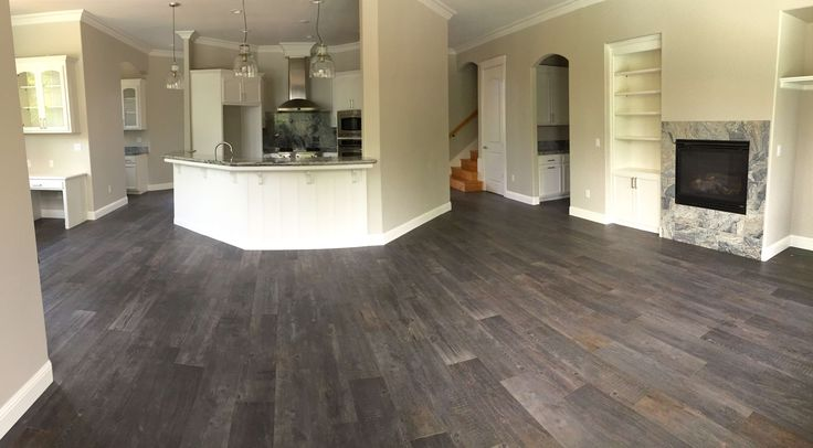 """Bedrosians Tahoe Collection Color Glacier 8"""" X 40"""" Wood Look Porcelain Tile, Rectified Edge with a 1/16th Inch Grout Line."""