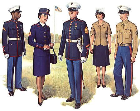 USMC Dress Blues, the best looking uniform on the planet. Proud to have earned the right to wear mine.