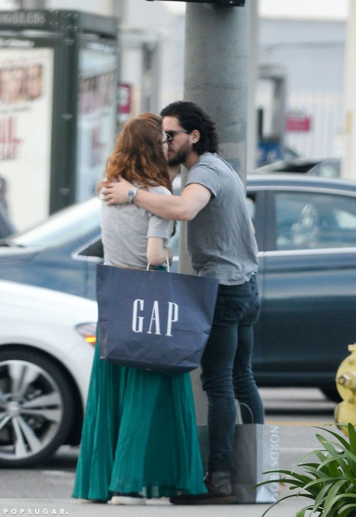 Kit Harington and Rose Leslie have a PDA-filled day out in LA.