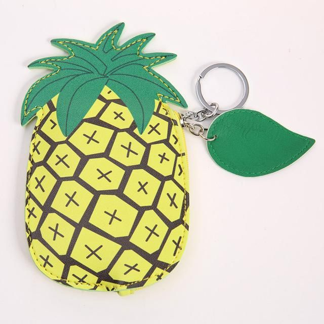 Pineapple Coin Purse | Wallet | Card Holder | Cute | Kawaii | Novelty Bags and Purses | Gift Ideas #quirkypurse