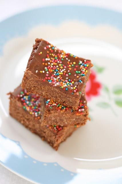 make it perfect: Chocolate Weetbix Slice, recipe for chocolate icing as well!
