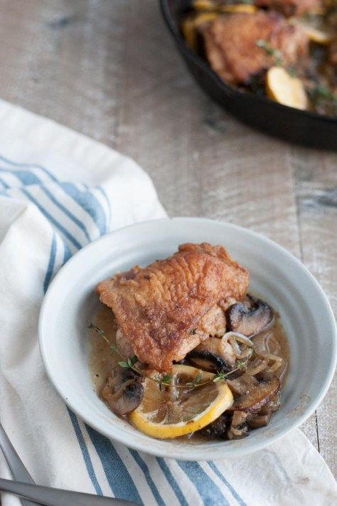 ...   Recipe   Skillet Chicken, Chicken With Mushrooms and White Wines