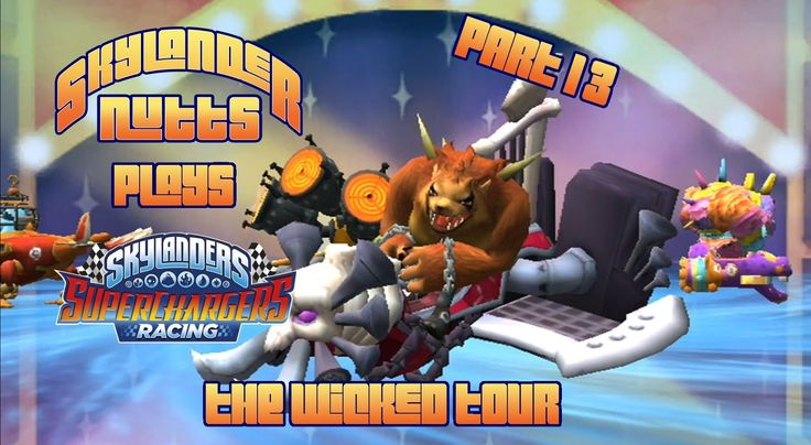 SuperChargers Racing Part 13 - The Wicked Tour (Air Racing Pack). Join us as we begin the Wicked Tour for Skylanders SuperChargers Racing. The boys take on the villains in this Sky Racing Pack tour.