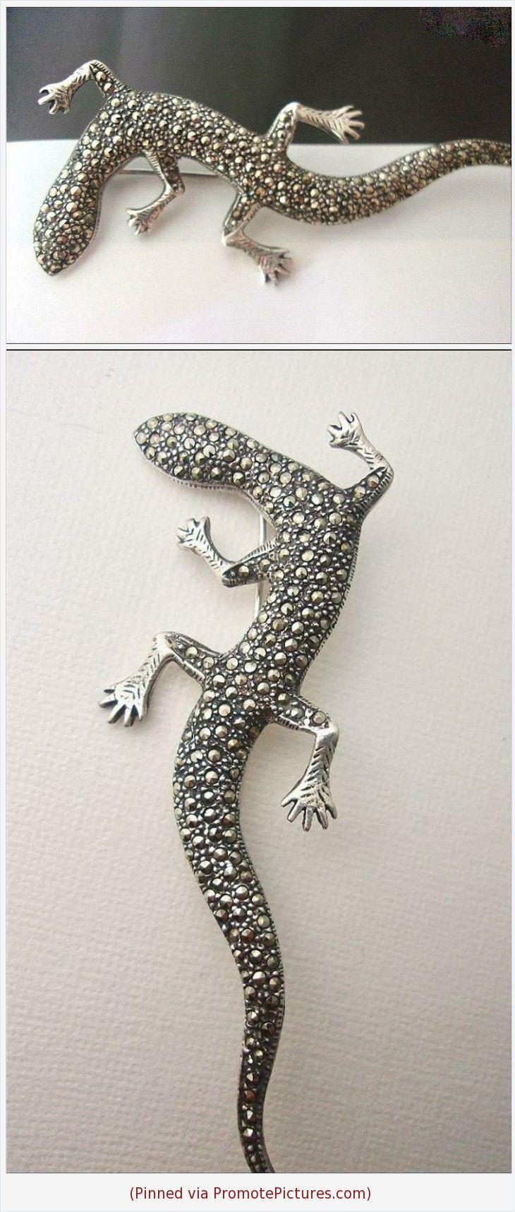 Vintage sterling silver gecko brooch gecko jewelry sterling silver lizard pin amphibian brooch lizard jewellery gecko pin