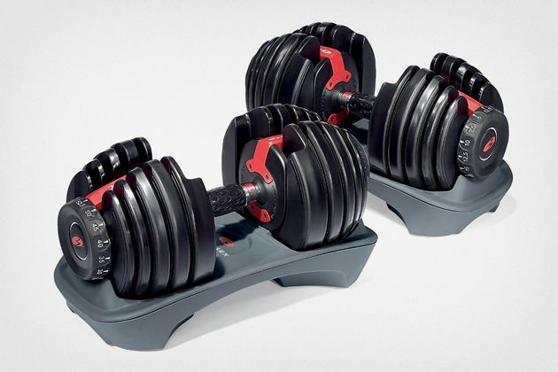 The Best Adjustable Dumbbells | After almost three months of research and more than six weeks of personal and panel testing, we've determined that the Bowflex SelectTech 552s are the adjustable dumbbells that we'd tell most people to get.