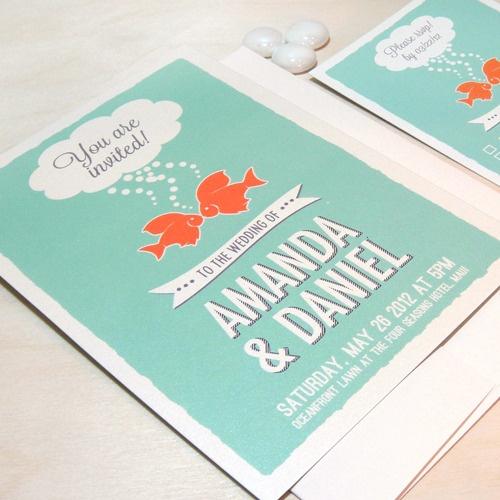 fish invitation wedding - Google Search