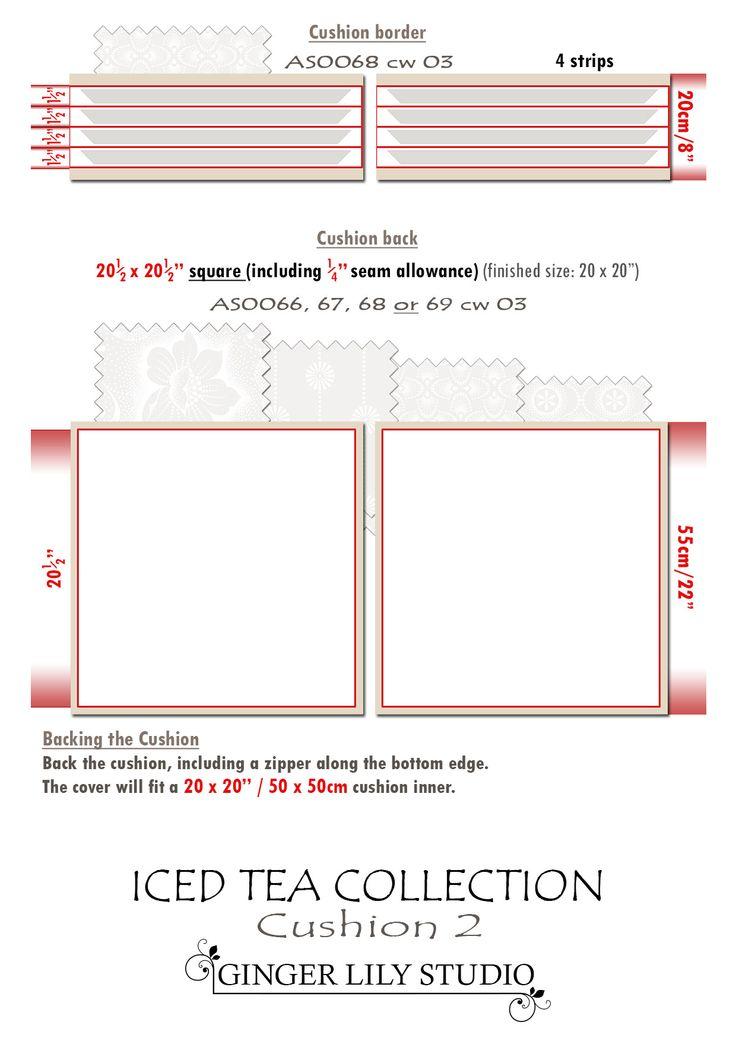 7b Iced Tea Collection Cushion cutting layout 2