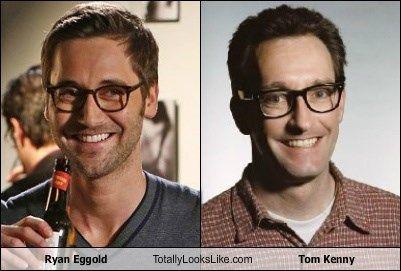Ryan Eggold totally looks like Tom Kenny