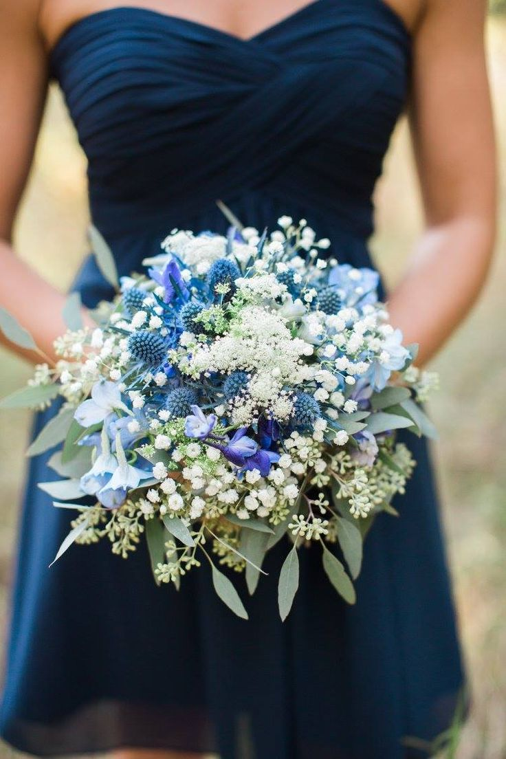 Blue Wedding Flowers Blue Thistle Queen Anne S Lace