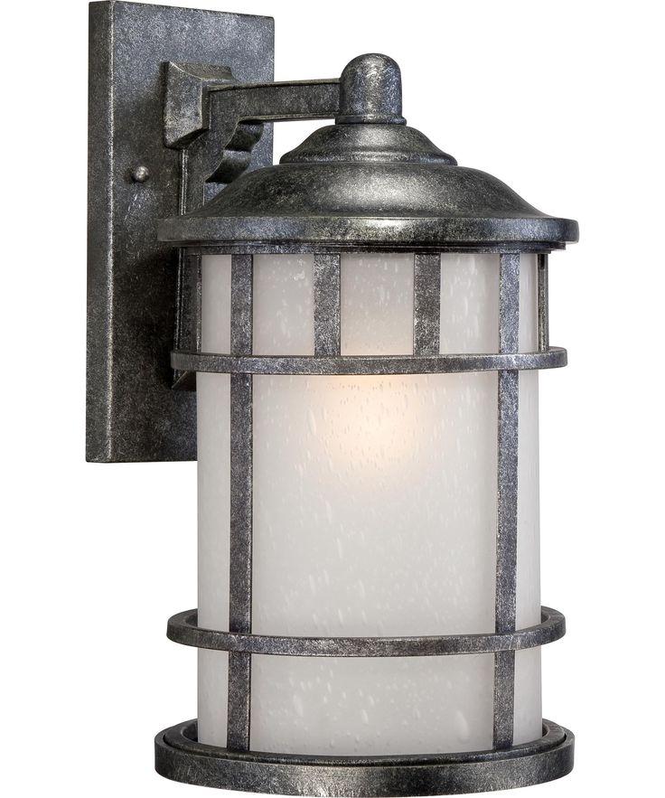 $195 aged silver finish - 100watt Nuvo Lighting Manor 10 Inch Wide 1 Light Outdoor Wall Light   Capitol Lighting 1-800lighting.com (also in smalkkler sizes)