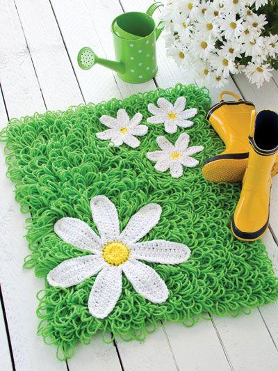 Crochet for the Home - Crochet Rug Patterns - Free Crochet Pattern -- Green Grass Rug