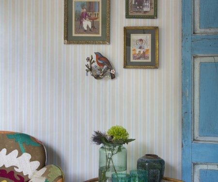 Papel Pin Stripe de Room Seven Travel Memories de Coordonné