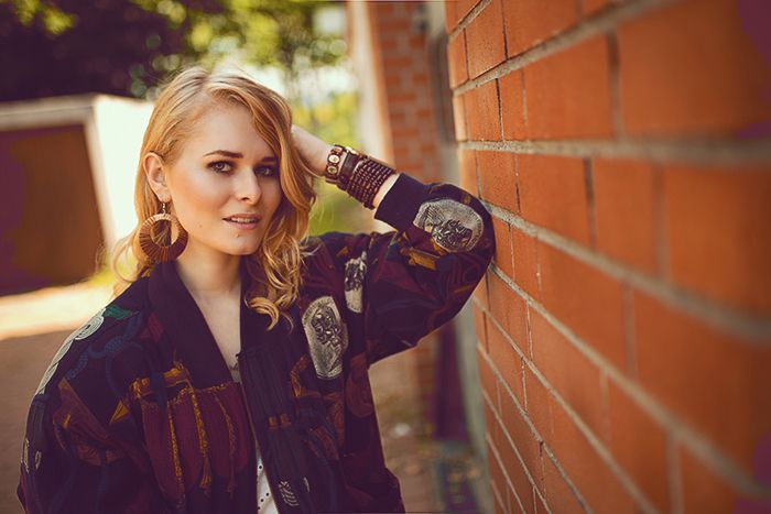 Lächeln, Blonde Locken,