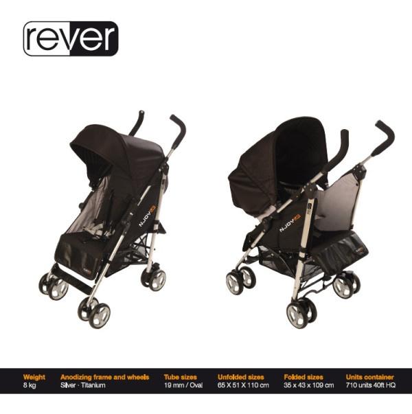 'Rever' de Njoy Up, la primera sillita paraguas reversible.