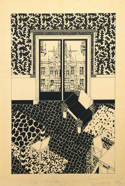 GEORGE J. SOWDEN Three lithographs of interiors