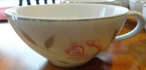 8 Argent Rose Cups Gambles Import Corp Fine Japan Vintage China