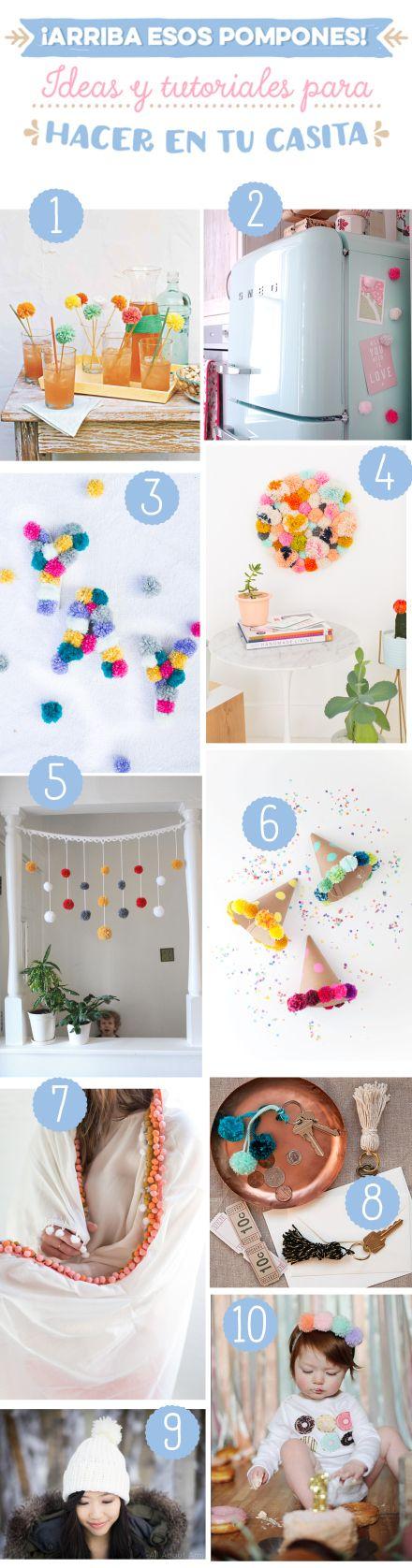 ¡Arriba esos pompones! 10 DIY para hacer en casa | muymolon