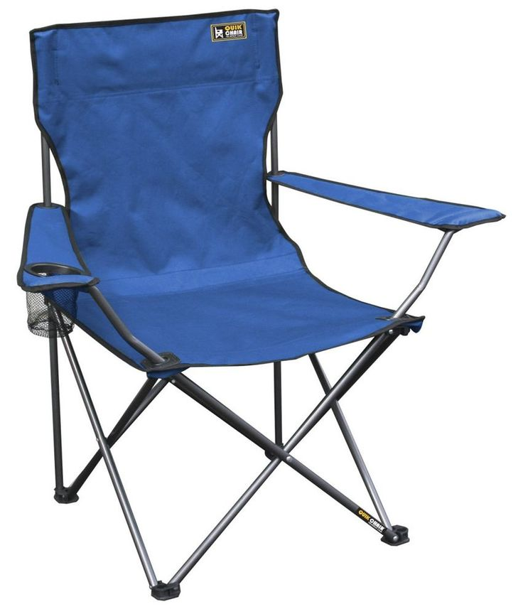 Folding Outdoor Camp Chair Portable Pop-up Seat For Camping Travel Cup Holder #QuikShade