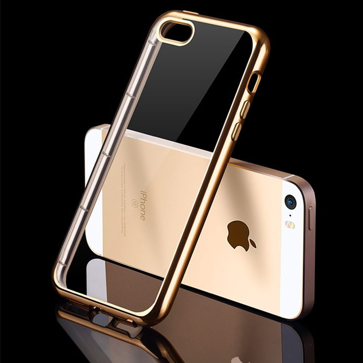Plating Soft TPU Silicone Case For iPhone 5 5S 5SE Ultra Thin Slim Transparent Clear Case On SE 5S Back Cover Gold Silver Gary //Price: $5.00 //       #7DollarGiftItems    #cute #instagood #beautiful #dandg #picoftheday #cocochanel #girl #brandonflowers #love #tagblender #dolceandgabbana #lovely #branded #instabrands #good #photooftheday #brands #me #brandy #iphonesia #chanel #awesome #tweegram #tbt #brandname #instamood #brandon #brandymelville #louisvuitton #brand